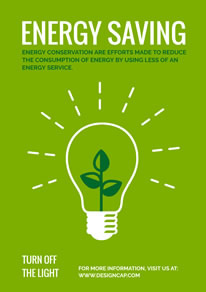 Green Save Energy Poster design