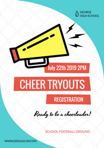 High School Cheerleading Registration Poster design