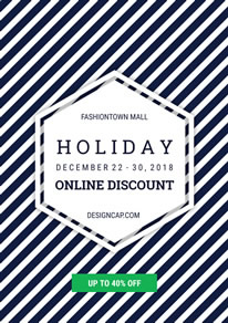 Holiday Online Sale Poster design