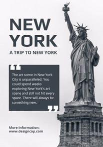 Liberty Statue New York Poster design