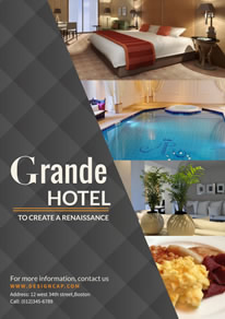 Luxury Hotel Suite Poster design