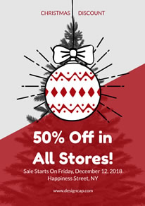 Merry Christmas Discount Poster design