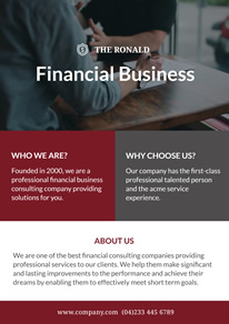 Modern Financial Business Service Flyer design