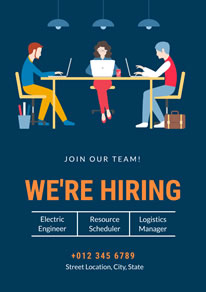 Office Worker Hiring Poster design