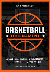 Free basketball poster flyer designs designcap poster for Basketball tournament program template
