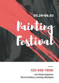Painting Festival Ticket Booking Poster design