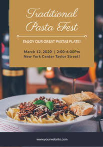 Photo Traditional Pasta Fest Flyer design