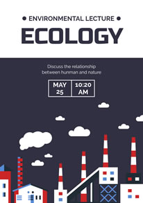 Polluting Factories Save Environment Poster design
