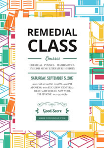 Practical Remedial Class Poster design