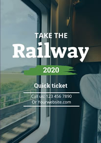 Railway Ticket Booking Information Poster design