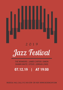 Red Jazz Music Festival Poster design