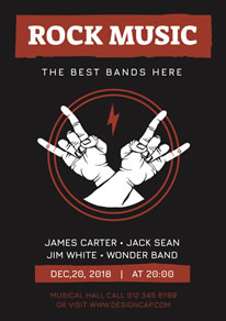 Rock Gesture Music Poster design