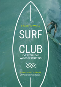 Sea Photo Surf Club Recruit Flyer design