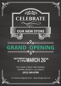 Free Grand Opening Poster/Flyer Designs | DesignCap Poster ...