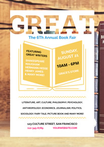 Simple Annual Book Fair Promotion Flyer design