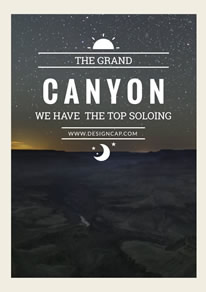 Simple Grand Canyon Night Scene Travel Poster design