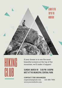 Simple Hiking Club Recruit Flyer design