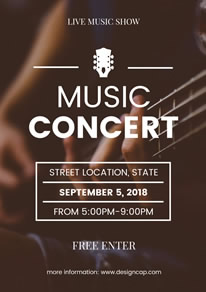 Music Band Performance Poster Simple Concert Design
