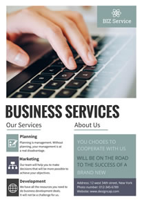 Simple Various Business Services Poster design