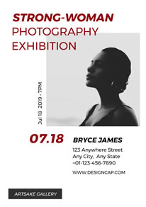 Simple Women Photography Exhibition Poster design