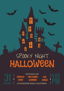 Spooky Night Halloween Party Flyer Design
