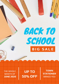 Stationery Shop Sale Poster design