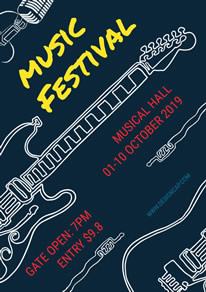 Stylish Music Festival Poster design