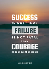 Success and Failure Motivational Quote Poster design