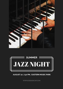 Summer Jazz Night Music Poster design