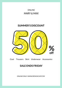 Summer Sale Discount Poster design