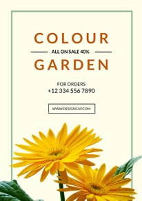 Sunflower Gardening Promotion Poster design