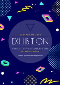 Sweet Blue Art Exhibition Poster design