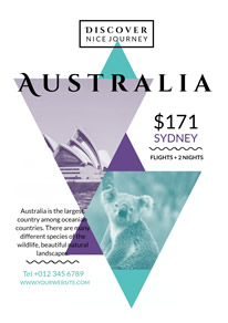 Triangle Australian Photo Travel Flyer design