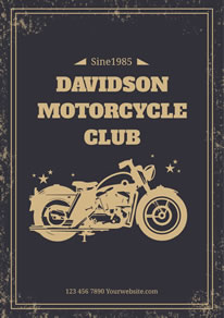 Vintage Motorcycle Club Poster design