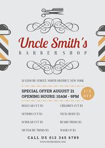 free barber shop flyer designs designcap flyer maker