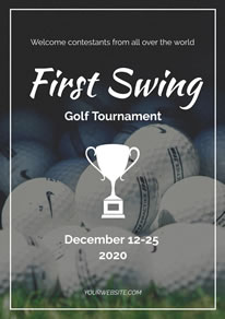 White Trophy Golf Tournament Poster design