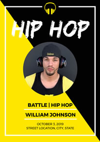 Yellow and Black Hip Hop Poster design