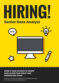 Yellow Business Hiring Poster design