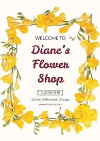 Yellow Flower Shop Promotion Poster design