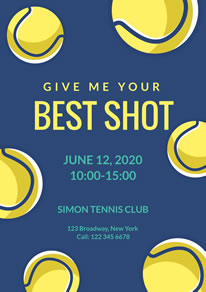 Yellow Tennis Ball Club Poster design